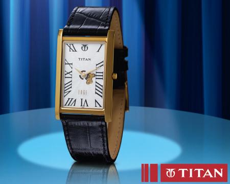 Titan Egde: đồng hồ mỏng nhất thế giới với bộ máy siêu mỏng và mặt kính sapphire, chịu được nước ở độ sâu 30 m, vỏ màu vàng.