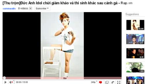 Người đăng tải đoạn thu âm trên youtube đã sử dụng hình nền là một tấm ảnh 'nhạy cảm' của Đức Anh Idol.