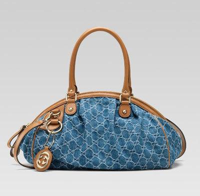 Túi xách Gucci Sukey bằng Denim.