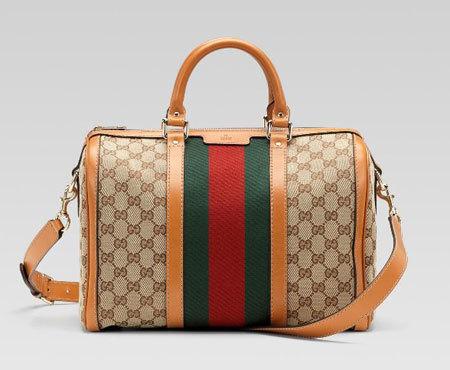 Túi xách Gucci Vintage Web bằng canvas.