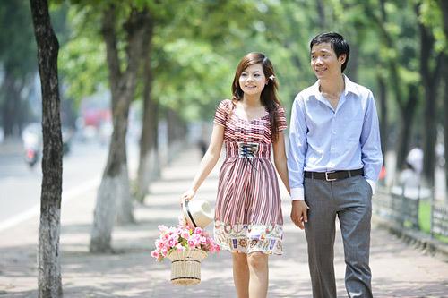 Đường Kim Mã mùa xuân trong bộ ảnh 'Gặp gỡ định mệnh'.