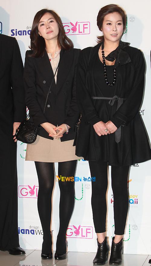 ... trong khi người đẹp Hyun Young (phải) lại có phần 'mũm mĩm'.