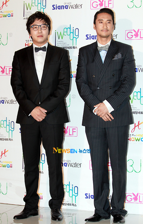 Nam diễn viên Nấc thang lên thiên đường Shin Hyun Jun (phải).