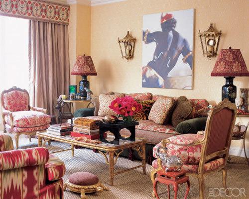 Sắc màu trong phòng khách.