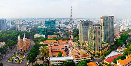 Nhà Thờ Đức Bà nhìn từ trên cao. Ảnh: Nguyễn Thế Dương.