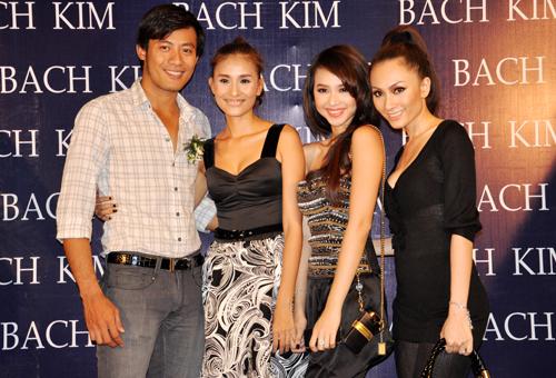 Nam người mẫu Hoàng Phi và các chân dài Đinh Ngọc Diệp, Yuki Lê cũng góp mặt tại buổi khai trương công ty.