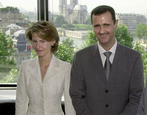 Asma Assad is the wife of Syrian President Bashar Assad. He became president in 2000 after the death of his father Hafez al-Assad, who had ruled Syria for 29 years. In December 2000, Assad married Asma, a Syrian Sunni Muslim from Acton (west London), they have 3 children