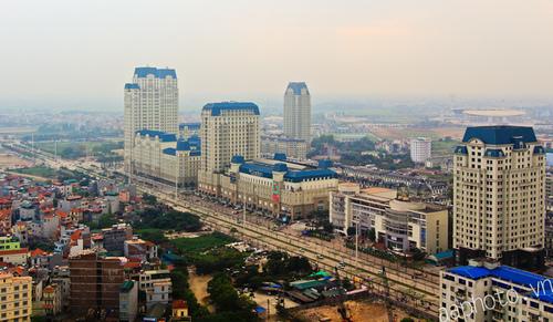 Khu đô thị The Garden, chụp từ CEO Building.