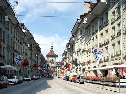 Con đường xinh xắn ở thủ đô Bern.