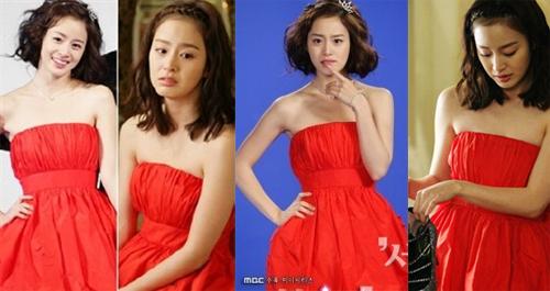 Chiếc váy đỏ Kim Tae Hee mặc nằm trong BST của thương hiệu
