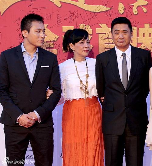 Vợ chồng Châu Nhuận Phát và nam diễn viên Lưu Diệp.
