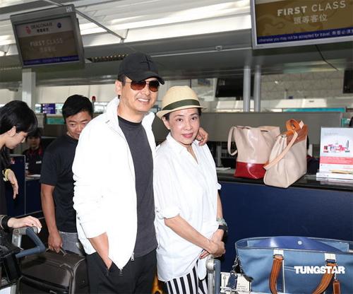Châu Nhuận Phát và vợ,