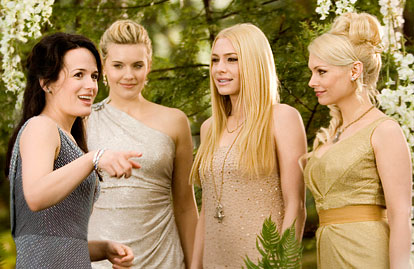 Esme Cullen (Elizabeth Reaser) looks glam alongside the Denali sisters: Irina (Maggie Grace), Kate (Casey LaBow) and Tanya (MyAnna Buring).