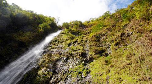 Hawaii không chỉ có biển xanh cát trắng mà những thác nước lớn cũng là thắng cảnh nơi đây. Trong ảnh là dòng thác Waimoku trắng xóa.