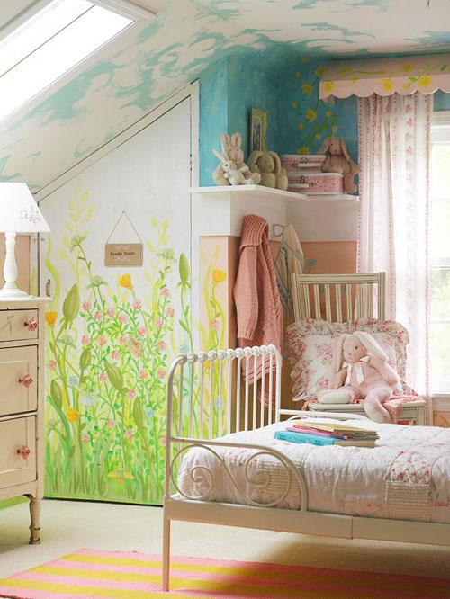 Phòng dễ thương cho bé gái.
