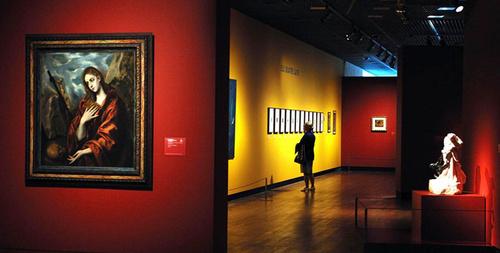 Khung cảnh bên trong bảo tàng Van Gogh.