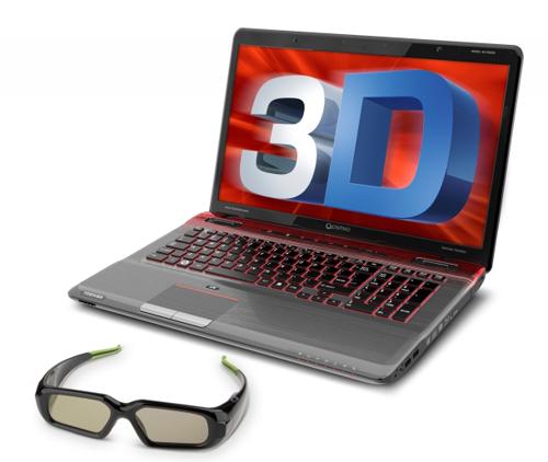 Laptop chơi game 3D Qosmio X770. Ảnh: Toshiba.