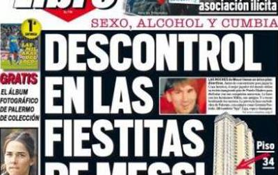 Màn thác loạn của messi lên trang bìa các tờ báo tại Argentina. Ảnh: Wpies.