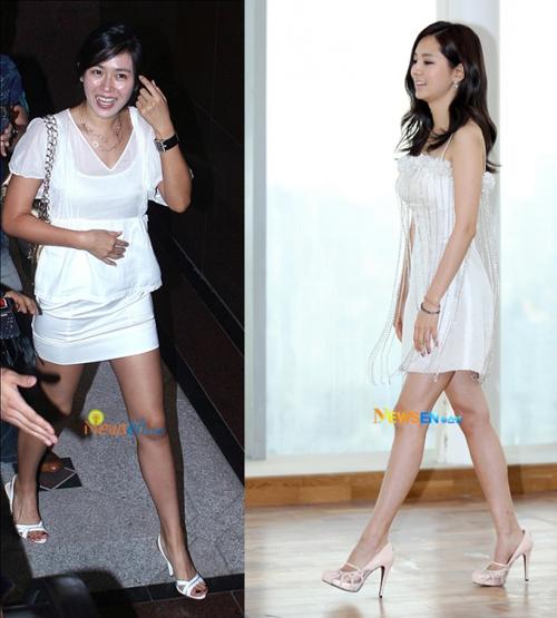 Gam màu trắng mang đến cho Son Ye Jin và Han Chae Ah vẻ nữ tính nhưng cũng rất lịch thiệp.