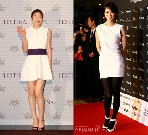 Người đẹp thể thao Kim Yuna và diễn viên Shin Min Ah