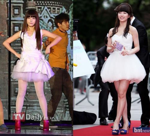 Hai cô nàng xì tin IU và Miss A của Suzy
