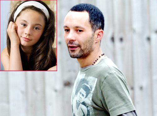 Rhodri Giggs và cô con gái riêng nay đã 10 tuổi. Ảnh: Daily Star.