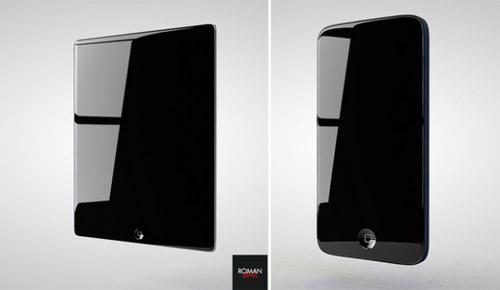 Mô hình iPad 3 và iPhone 5