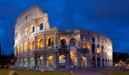 Đấu trường La Mã ở Rome cũng được lên phim.