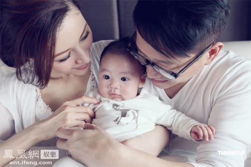 Người đẹp Lý Gia Hân khoe ảnh quý tử nhân dịp bé tròn 100 ngày hồi tháng 5.
