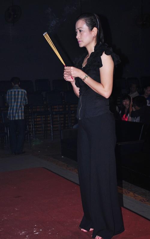 Nữ diễn viên Tuyết Thu của phim