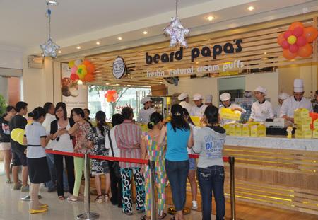 Cửa hàng Beard Papas tại Thien Son Plaza, quận 7, TP HCM.
