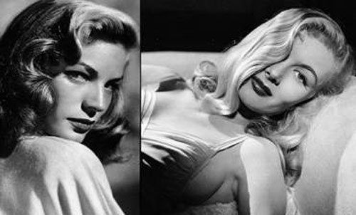 Lauren Bacall và Veronica Lake.