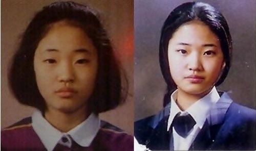 Kim Sa Rang khi còn là một học sinh.