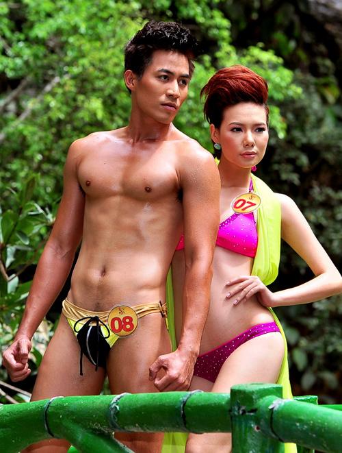 Bùi Thanh Tùng (số đo: 96-73-93) và Hà Thị Kim Liên (số đo: 83-62-89).