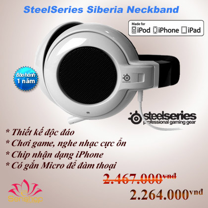 Steelseries Siberia Neckband for Iphone.