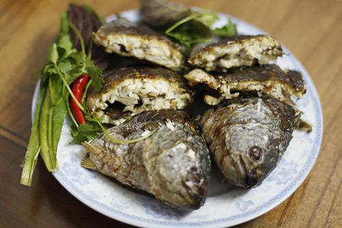 Cá sau khi nướng.