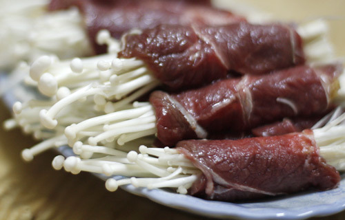 Thịt bò cuốn kim châm 5