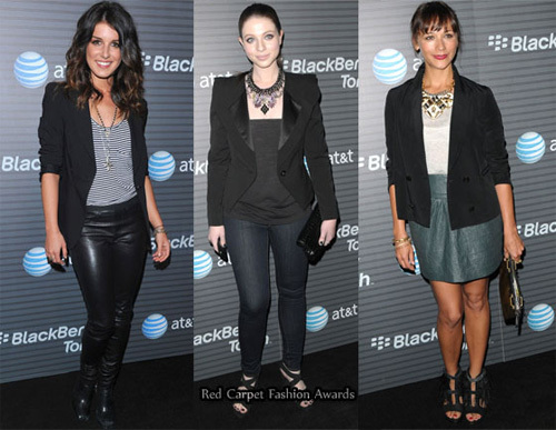 Shenae Grimes, Michelle Trachtenberg and Rashida Jones.