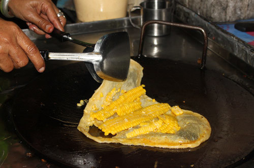 Bánh ngô phong cách Thái.