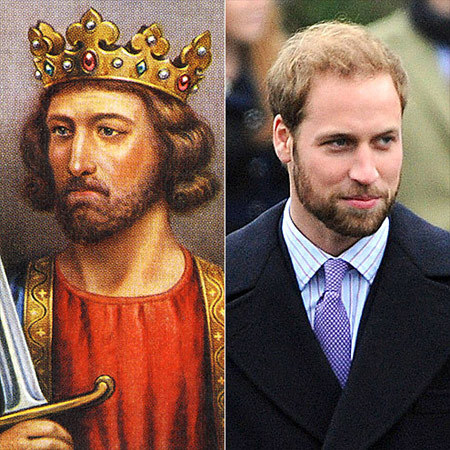 Clearly he's no pretender to the throne: Prince William's regal bearing can be traced back to his 14th-century ancestor King Edward I, making the 28-year-old royal even more of a shoo-in as future King of England.