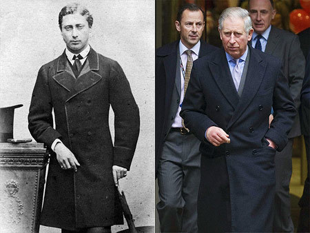 What's the expression? Yes, Prince Charles is a dead ringer for Edward VII, the future king of England's great-great-grandfather, who owned the title of Prince of Wales before ascending the throne in 1901.