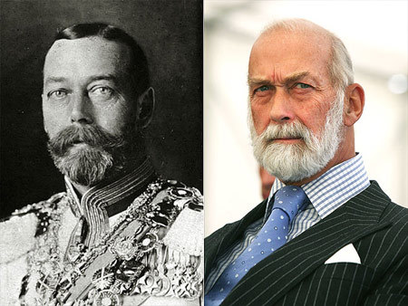 A cousin of Queen Elizabeth II and Freddie's dad, Prince Michael of Kent has the bearing  right down to the full beard!  of his granddad, King George V, who ruled the United Kingdom through the First World War until his death in 1936.