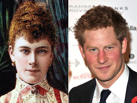 Guess who else bears a striking likeness to Queen Mary? Why, our favorite eligible royal bachelor Prince Harry, whose red hair and blue eyes were clearly passed down from his great-great-grandmother.