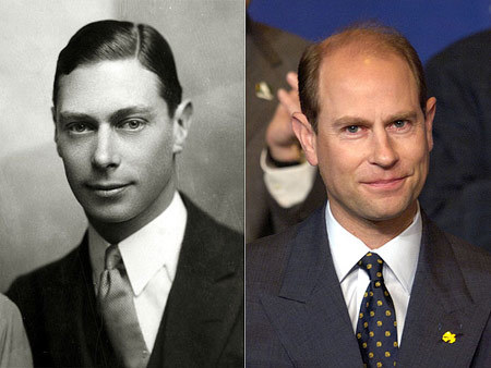Long live the king (George VI) in Prince Edward! From his thoughtful gaze to his deep-set eyes, Queen Elizabeth II's youngest son is indeed a natty 21st-century version of his grandfather.