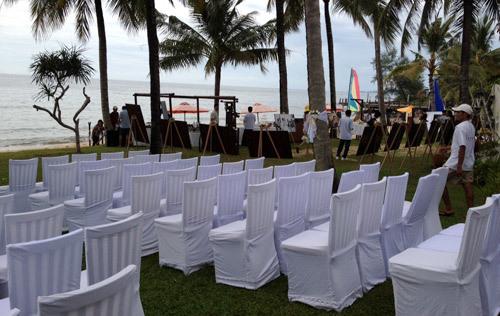 Đám cưới được chuẩn bị rất kỹ càng.