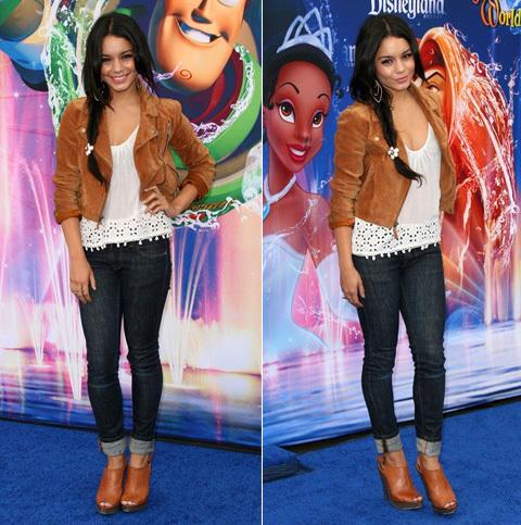 Diễn viên xinh đẹp Vanessa Hudgen trông thật phong cách khi kết hợp skinny.