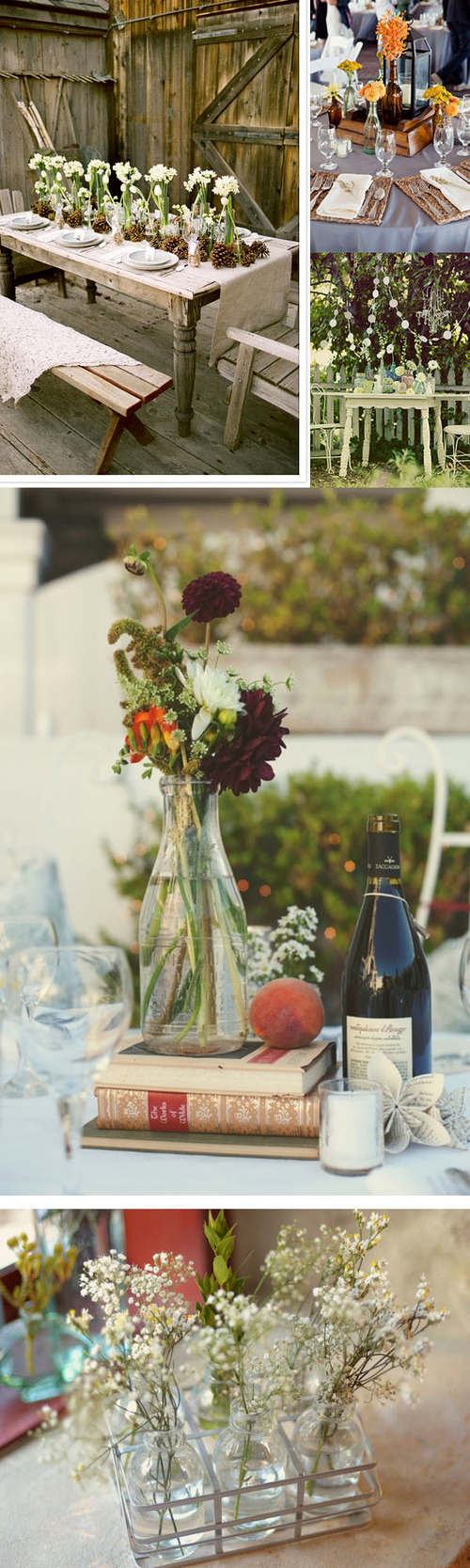 Lọ thủy tinh trong hoặc nhiều màu đều là bình cắm hoa đẹp.