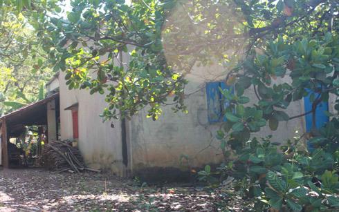 Ngôi nhà của Kim, nơi xảy ra vụ cưỡng hiếp bé Nga. Ảnh: Chế Bắc