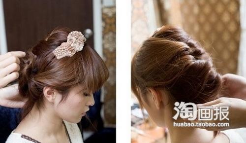 Có thể dùng cặp ghim để cố định các lọn tóc. Sau khi hoàn thành, xịt keo giữ nếp