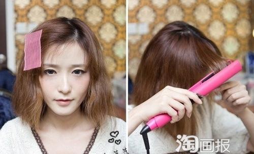 Duỗi thẳng các lọn tóc bằng máy là